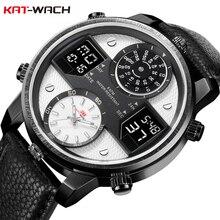 KAT-WACH Fashion Luxury Brand 5ATM Waterproof Watch 24-Hour