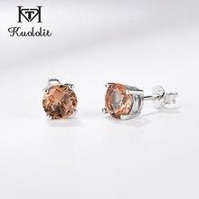 Серьги-гвоздики с драгоценным камнем kuolit Diaspore Zultanite для женщин, однотонные 925 пробы серебряные цветные серьги для помолвки, хорошее ювелирное изделие