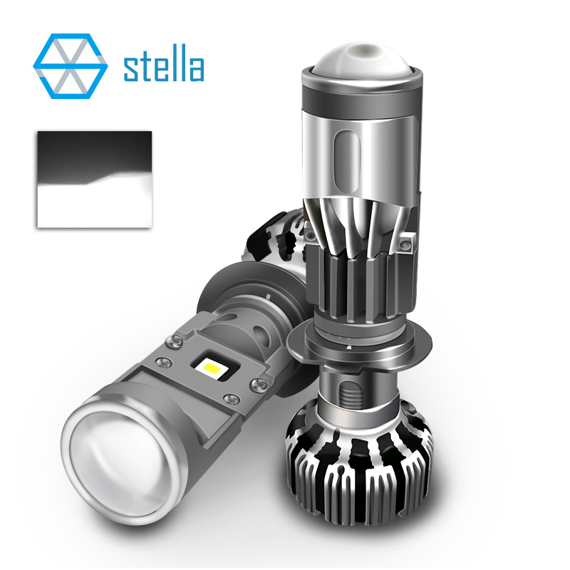Stella H7 Mini Led Lens Headlight Bulbs H7 LED Projetor Headlamp Dipped Beam High Beam Ice Lamp For Auto 55w 5500k White Light