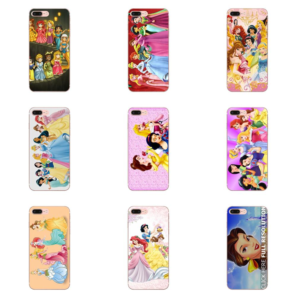 Cute Disny Princess <font><b>Sexy</b></font> Girl Soft Case Capa Cover For Samsung <font><b>Galaxy</b></font> Note 5 8 9 S3 <font><b>S4</b></font> S5 S6 S7 S8 S9 S10 5G <font><b>mini</b></font> Edge Plus Lite image