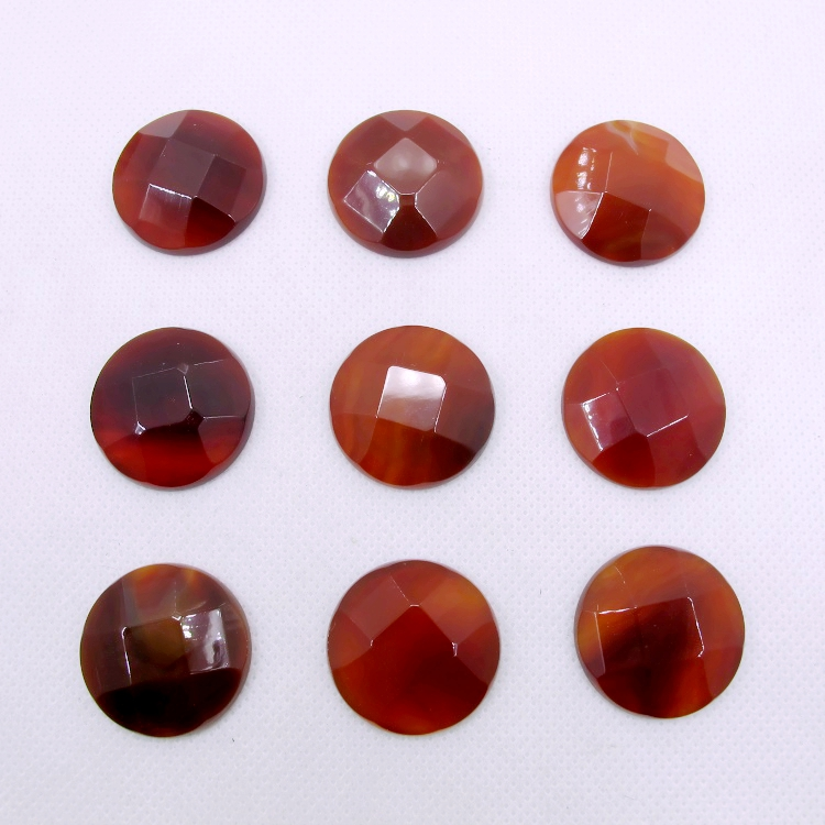 """3MM CORAL RED AGATE GEMSTONE GRADE AA RED ROUND 3MM LOOSE BEADS 16/"""""""