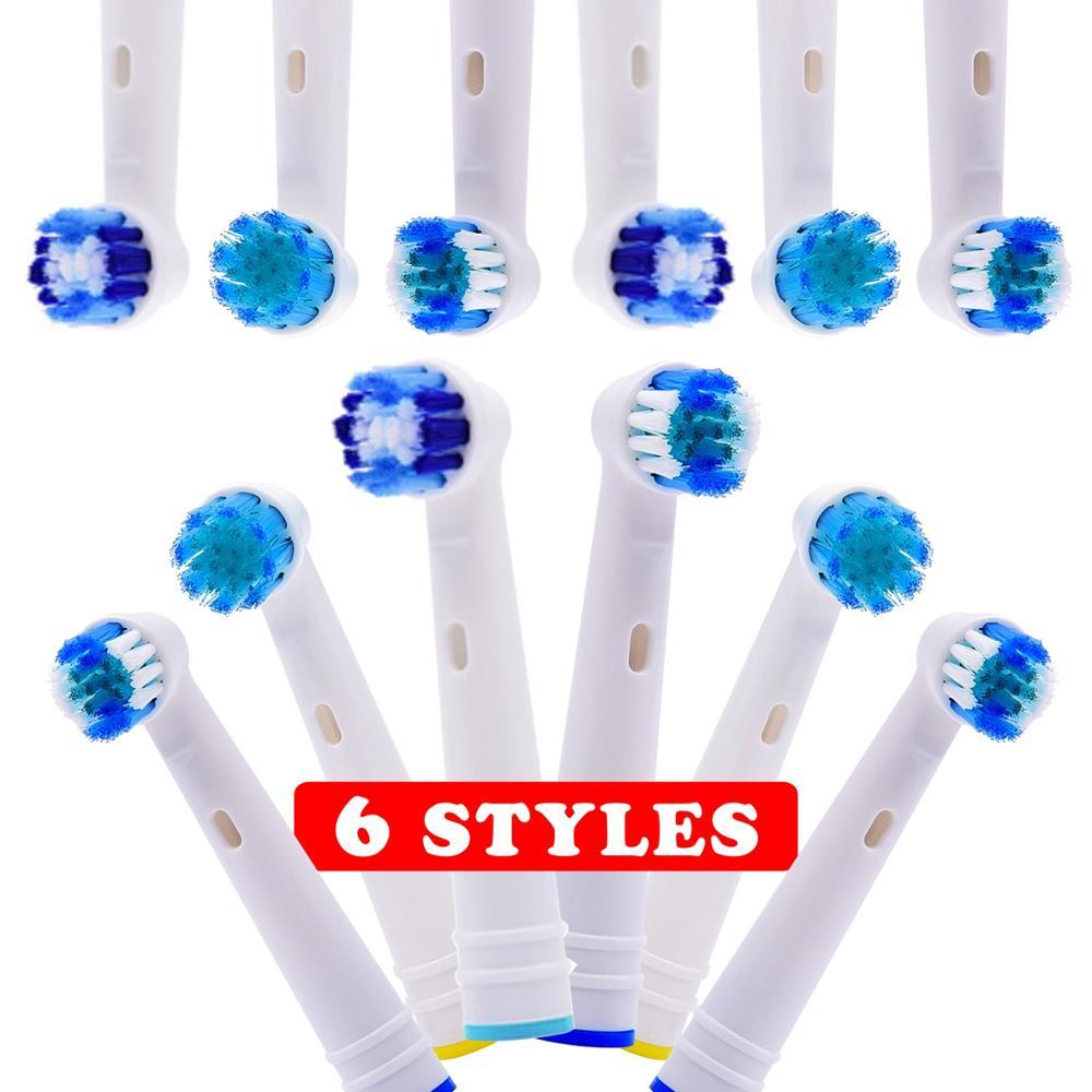 8 Uds. 12 Uds. Cabezales de cepillo de dientes de repuesto 6 modelos para avance eléctrico Oral B/Pro salud/Triumph/3D Excel/vitalidad precisión limpia