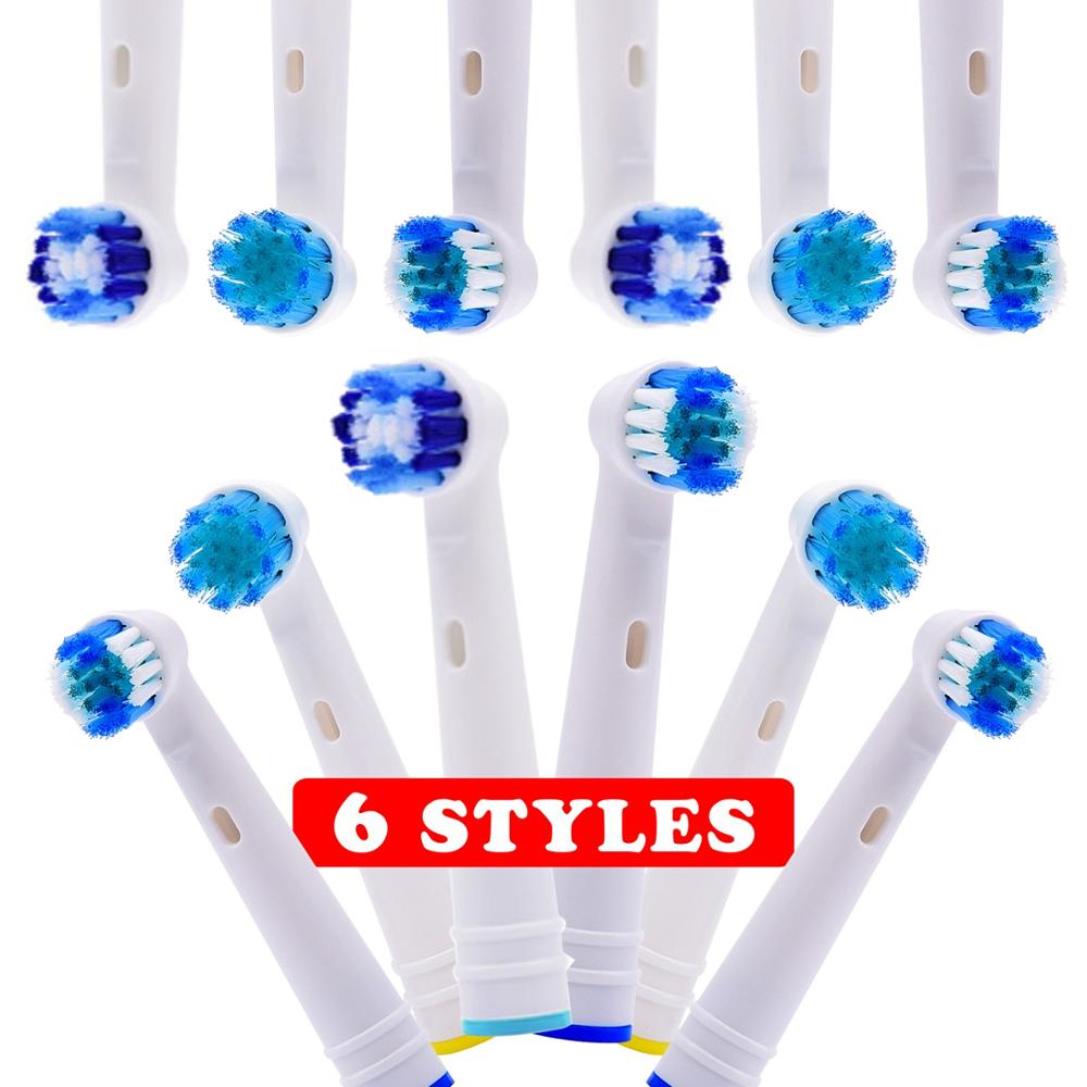8pcs 12pcs Replacement Toothbrush Heads 6 model For Oral B Electric Advance/Pro Health/Triumph/3D Excel/Vitality Precision Clean image