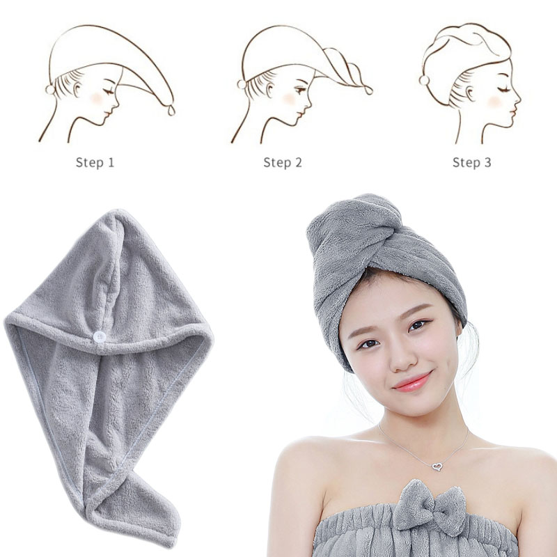 Women Bathroom Super Absorbent Quick-drying Thicker microfiber Bath Towel Hair Dry Cap Salon Towel rapid drying hair towel