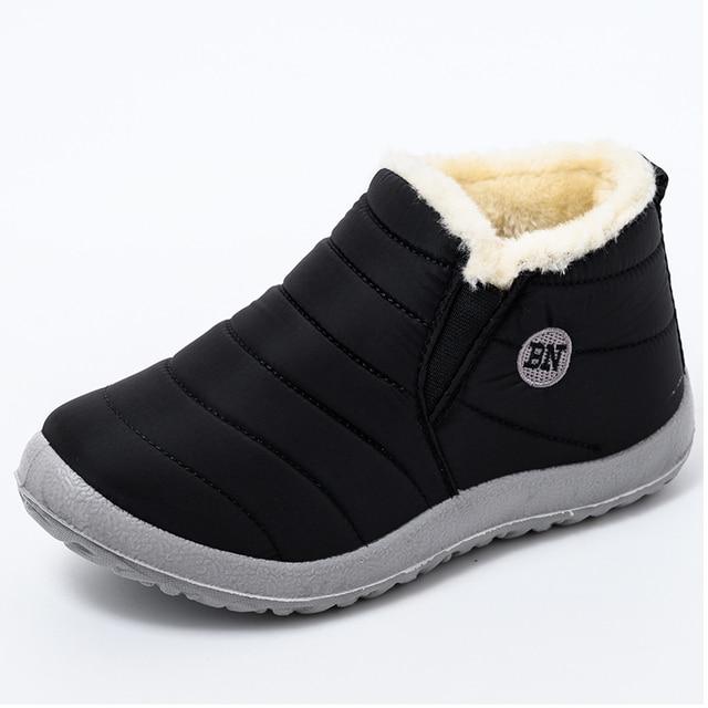 Mulheres botas de inverno ultraleve sapatos femininos tornozelo botas mujer waterpoor botas de neve feminino deslizamento em sapatos casuais planos sapatos de pelúcia 2
