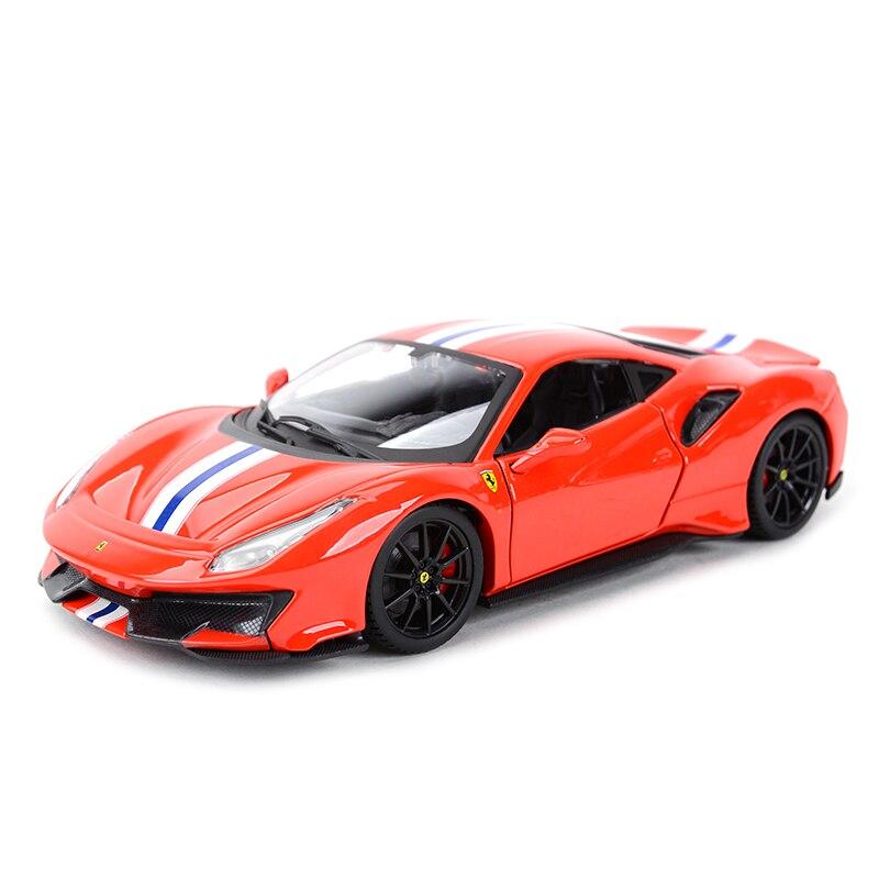Bburago 1:24 Ferrari 488 PIsta Sports Car Static Simulation Diecast Alloy Model Car