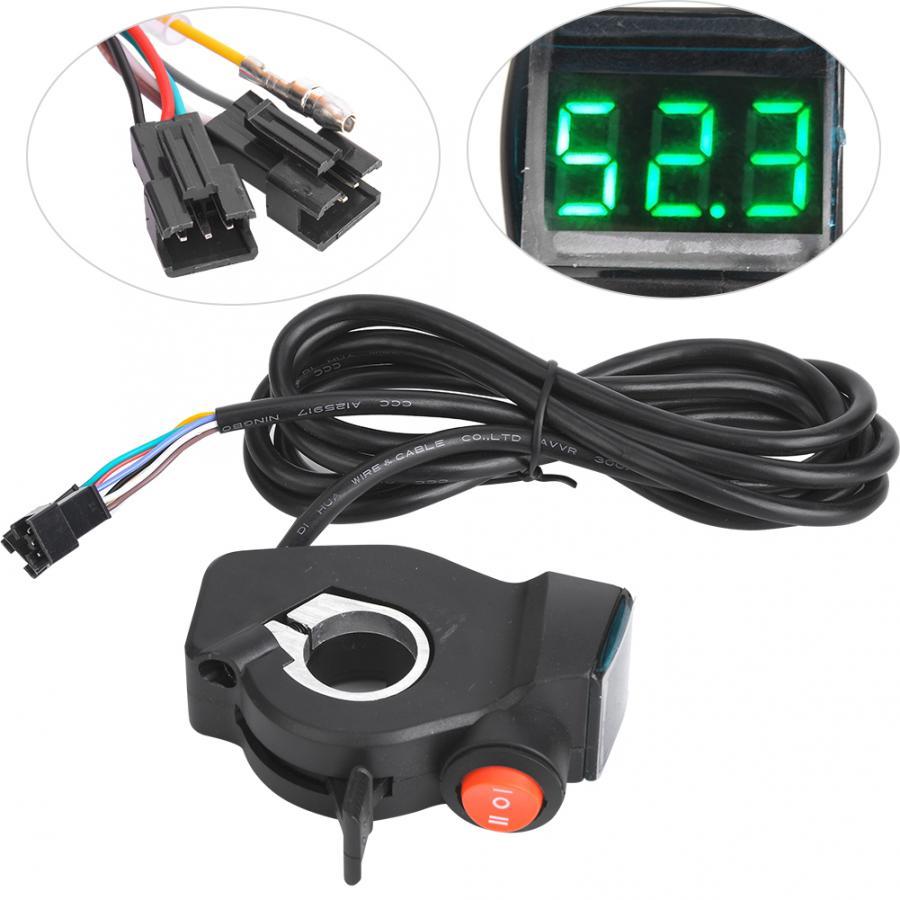 VGEBY 1Pair Handlebar Throttle Grip Waterproof LCD Display Handle Twist Grip Clamp for Electric Cars Bike Scooter 36//48V