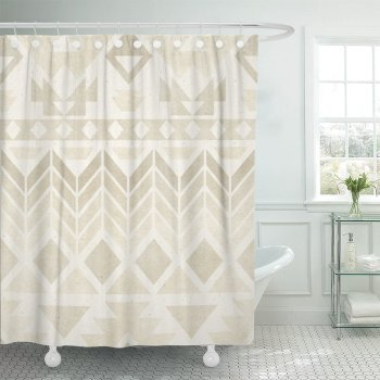 Macrame Shower Curtain