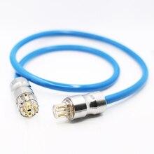 Audiocrast P111 высокомощный ЭМС шнур питания переменного тока, посеребренный шнур питания Schuko, кабель Hi Fi