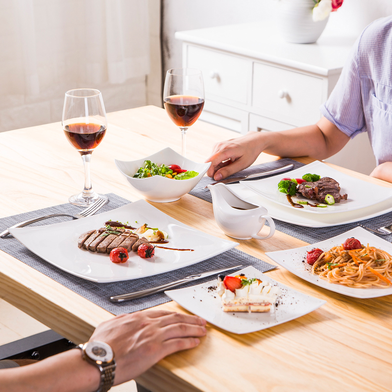Céramique européenne créative Western assiette à dîner Steak vaisselle en céramique Steak couteau fourchette mode dîner assiette cuisine vaisselle
