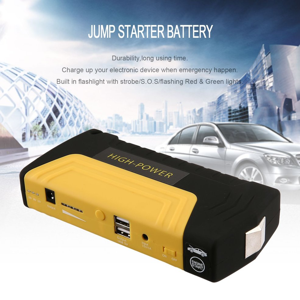 AU Plug USB Portable Auto Engine Car Jump Starter Emergency Charger Booster Power Bank Battery With Air Pump Set|Jump Starter|Automobiles & Motorcycles - title=