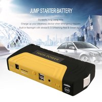 AU Plug USB Portable Auto Engine Car Jump Starter Emergency Charger Booster Power Bank Battery With Air Pump Set Jump Starter Automobiles & Motorcycles -
