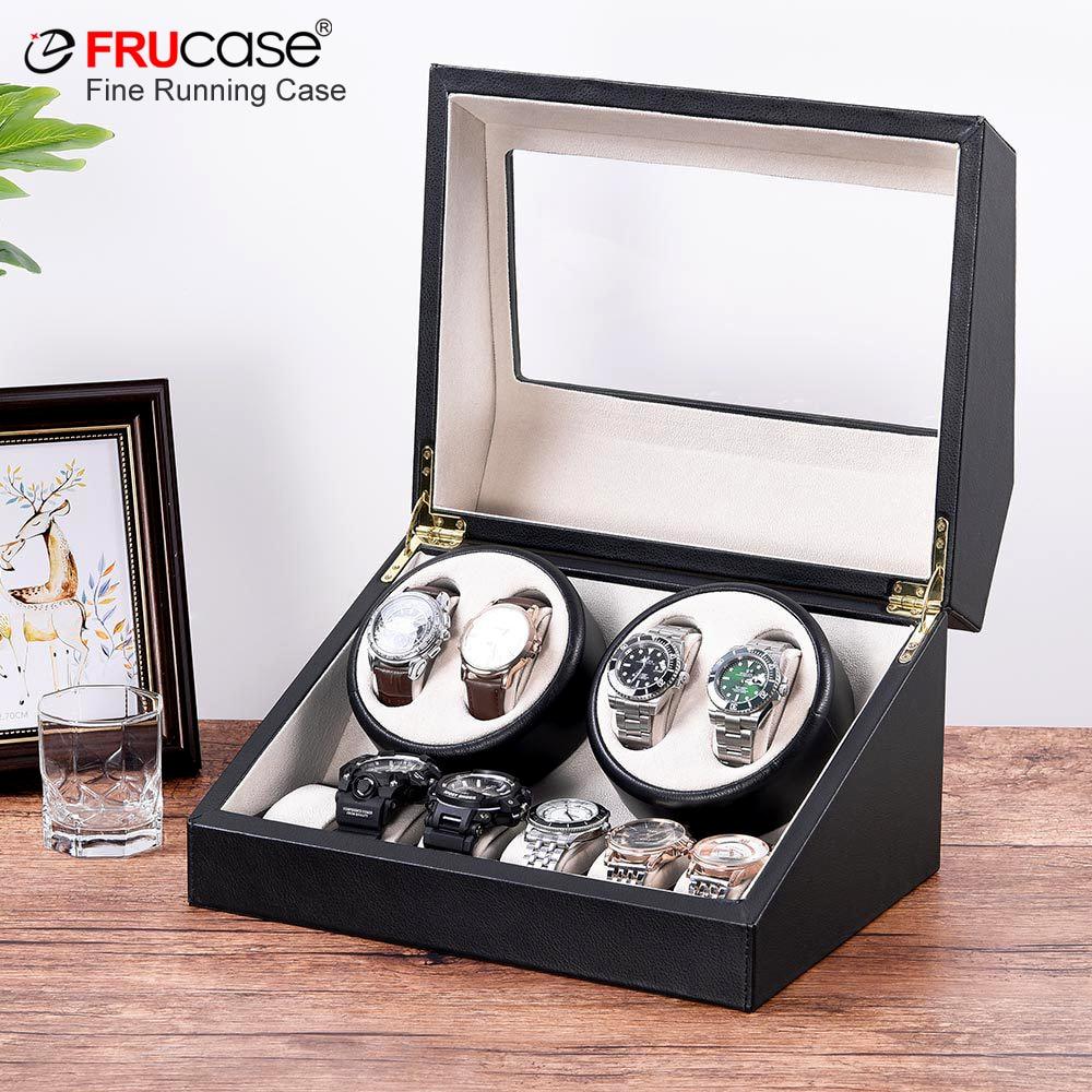 Winder para Relógios Caixa de Jóias Frucase Relógio Automáticos Coletor Armazenamento Case