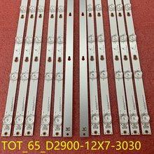 12 pçs/set tira Retroiluminação LED Para TCL 65S403 65S401 65S423 65S405 65D2900 D65A620U 65A730U U65P6046 THOMSON 65UC6306 65UC6406