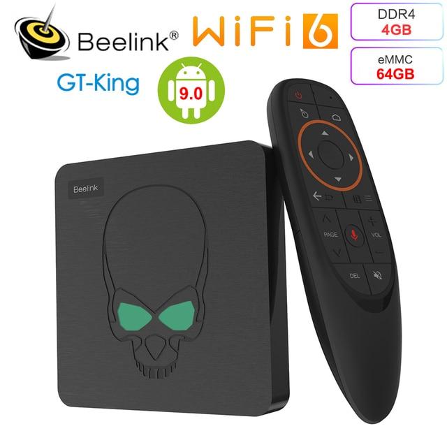 ТВ приставка Beelink GT King Amlogic S922X, 4 + 64 ГБ, 9,0/5 ГГц, Wi Fi