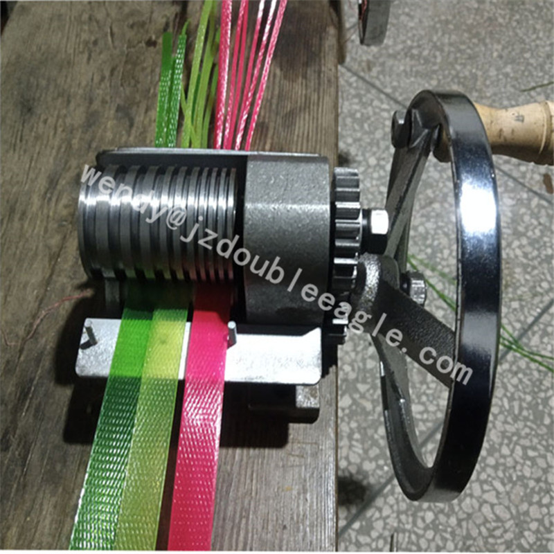 Easy To Operate Commercial Small Manual PET Strap Splitting Machine/hand Plastic Belt Special Cutting Machine For Knitting