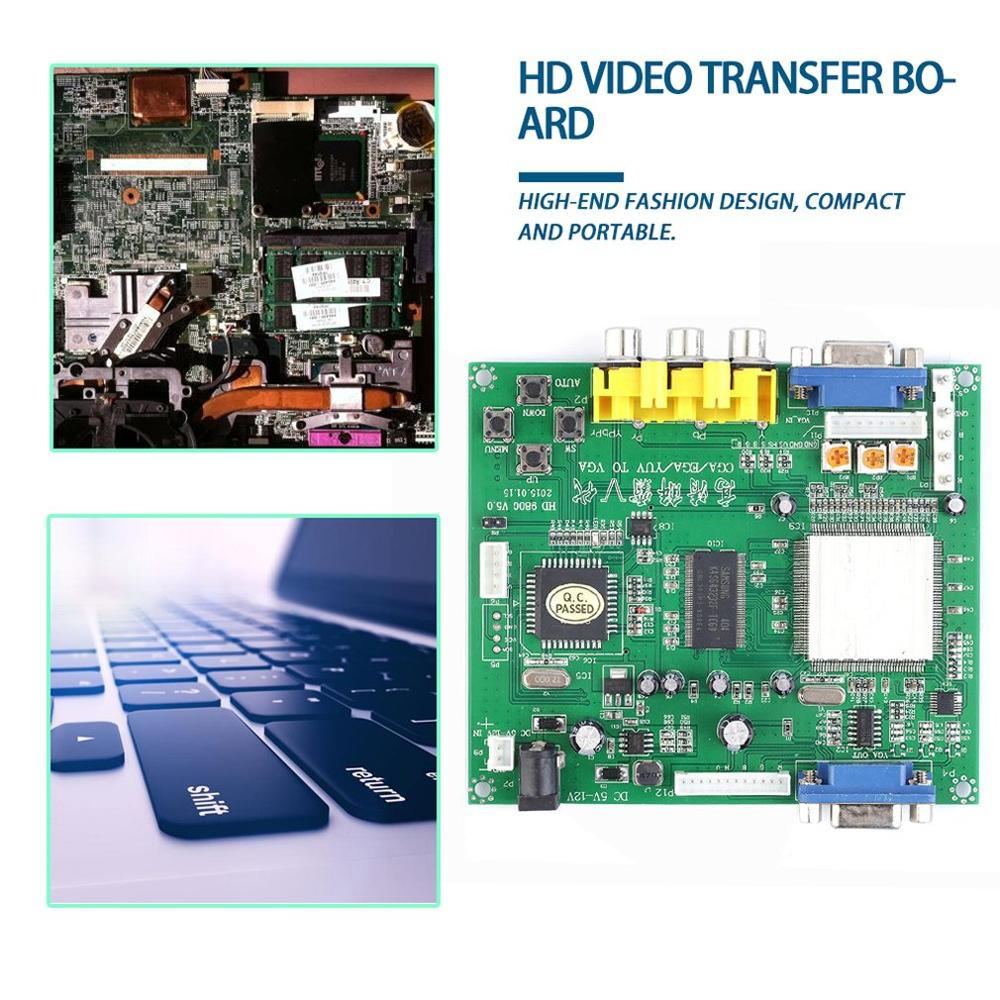 RGB CGA EGA YUV To VGA HD Video Converter Board Moudle HD9800 HD-Converter Board GBS8200 Non-Shielded Protection