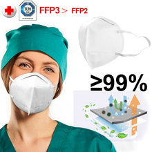Medical Protection KN95 Mask FFP3 Face Masks 4 layer 99% Sanitary Safety Anti Pollution Coronavirus Virus better than KF94 FFP2