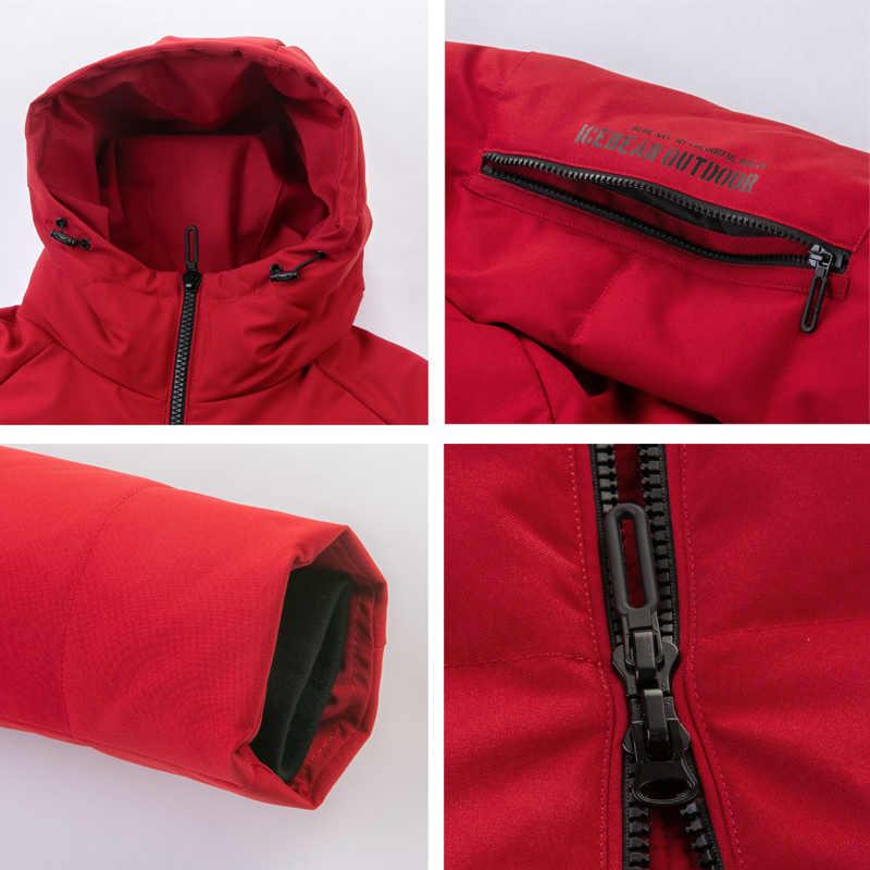 ICEbear, 2019, Новое поступление, 70% белый утиный пух, мужская куртка, Осень-зима, теплое пальто, мужская куртка на утином пуху, пальто, YT8117010