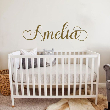 67*20cm Vinyl Lettering Name Decal Simple Custom Name Decals Baby Girl Nursery Wall Stickers Personalised Wallpapers LC1776 1