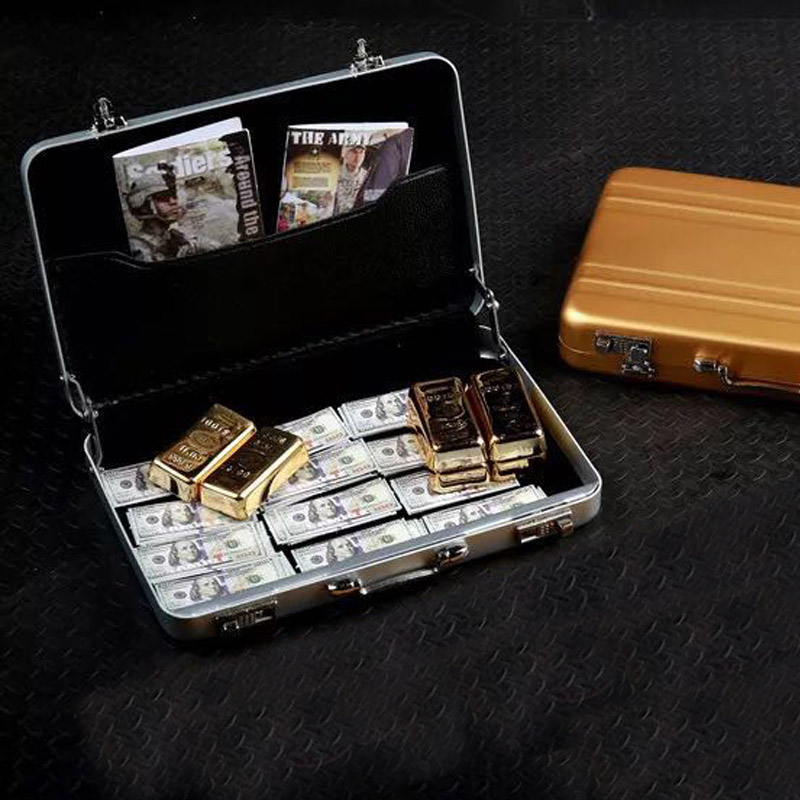 1/6 Scale Soldier Metal Suitcase Cash Box Model Fit for 12in Action Figure Diy Gangster Robber Toys Acessories image