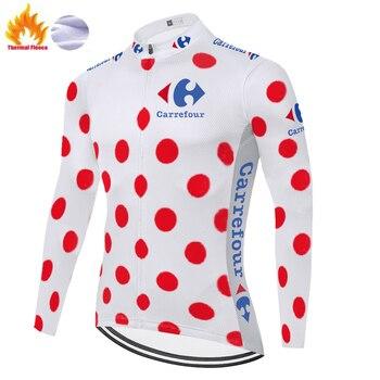 Jersey de ciclismo de manga larga para hombre, ropa térmica de lana...