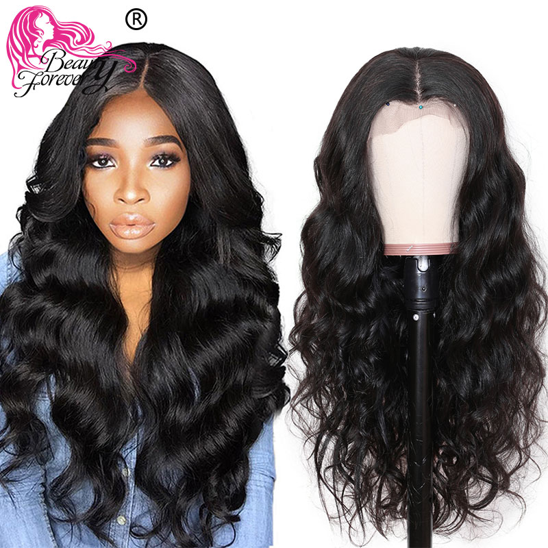 Beauty Forever 13*4/6 Brazilian Body Wave Lace Front Wigs Remy Human Hair Wig With Baby Hair Pre Plucked 150% 180% Density Wigs