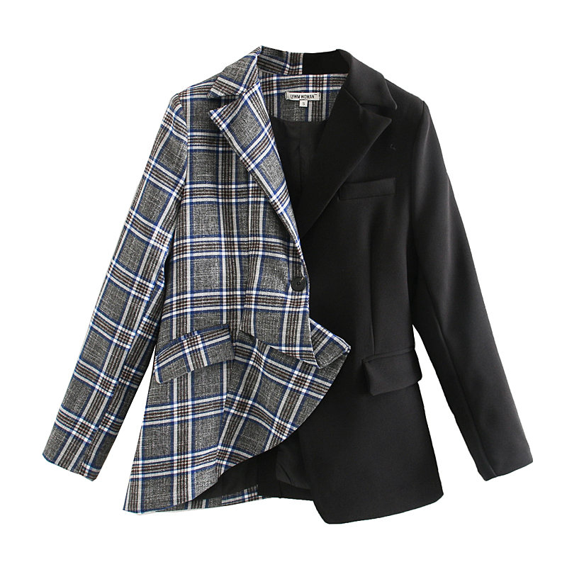 New Women England Style Pattern Suits 2020 Fashion Women Color Matching Casual Suit Can Be Worn In Spring And Summer