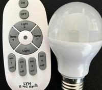 E27 Dimmable Led Bulbs Light AC 85 265V 7W Colorful Changing Led Lamps For Xmas Lighting + 2.4G Remote Control