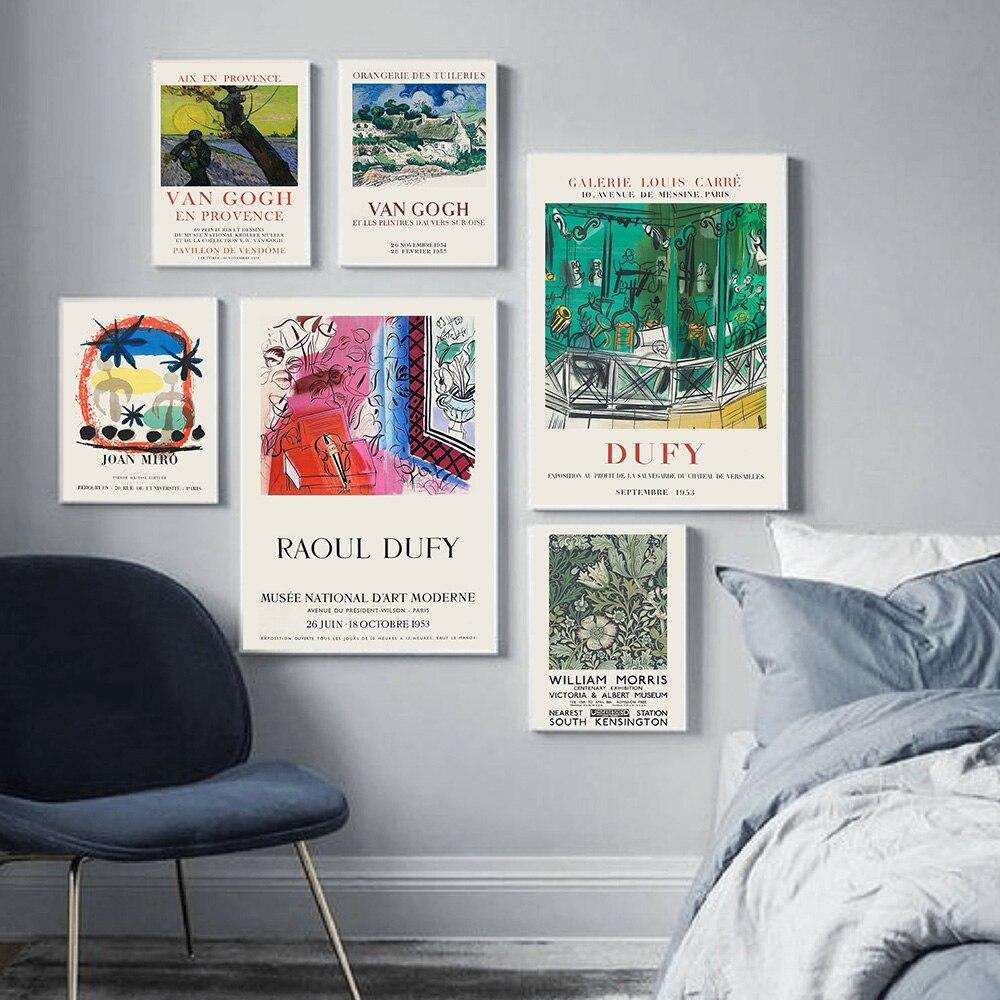 Retro soyut duvar sanatı sergi posteri tuval boyama İskandinav Minimalist baskılar duvar resimleri oturma odası dekor için