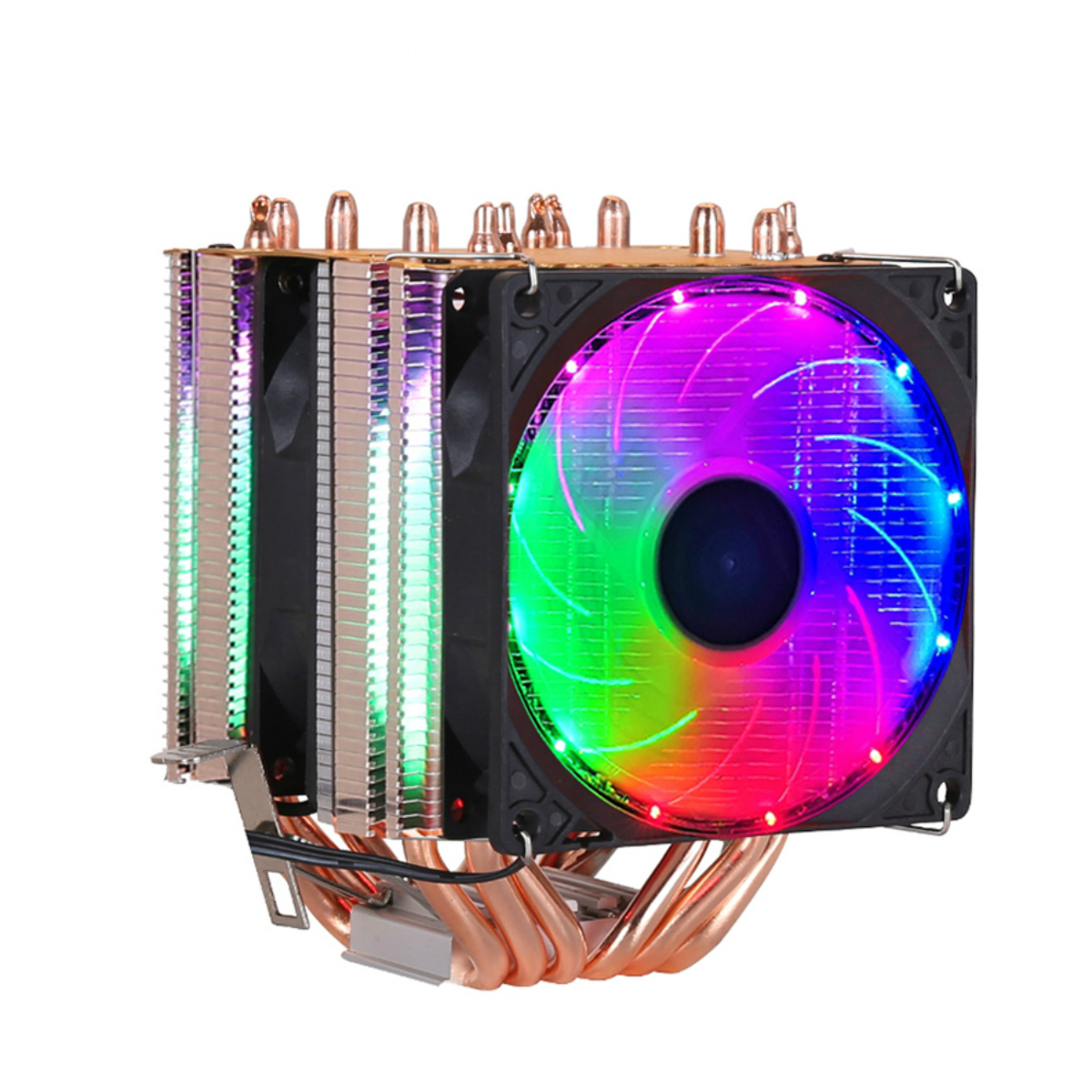 CPU Cooler Heatsink Kit High Quality 6 Heat-pipe Dual-tower Cooling 9cm RGB Fan Support 3Fans 3PIN4PIN Fan For Intel And For AMD