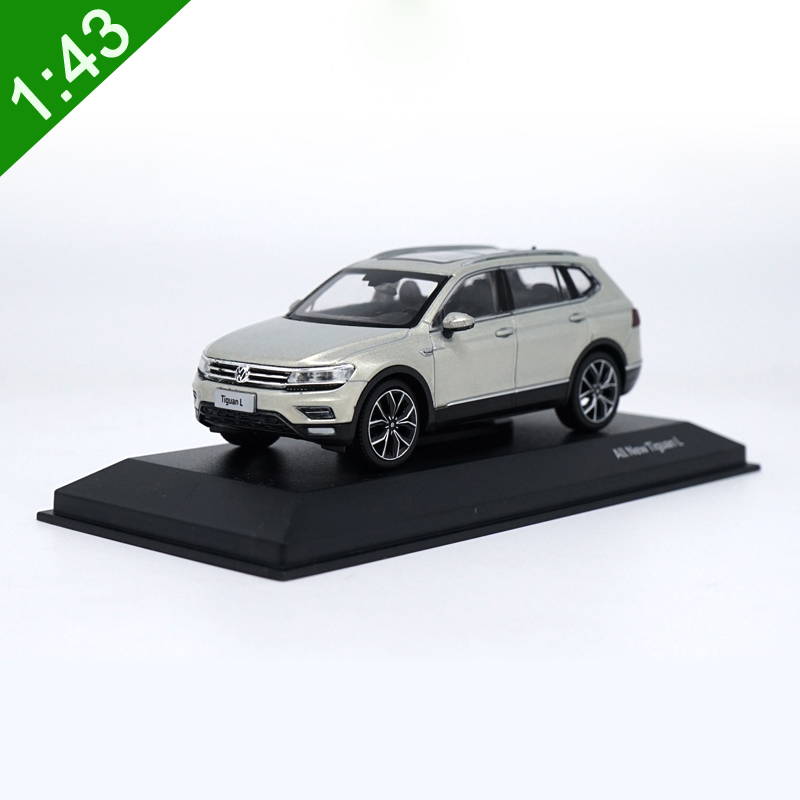 High Meticulous 1:43 VW TIGUAN L 2017 Alloy Model Car Static Metal Model Vehicles Original Box For Gifts Collection