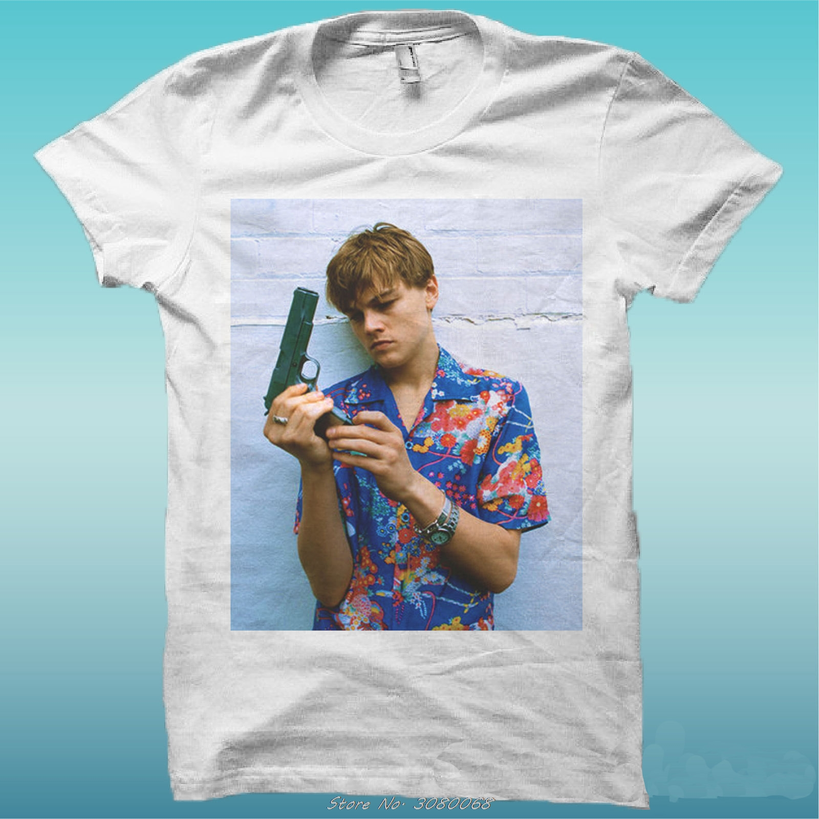 "T-shirt ""leonardo Dicaprio Romeo Movie"" The Happiness Is Han My Shirt New Men Short Sleeve Cotton Tees Tops"