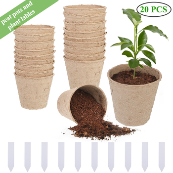 Paper Pot Starters Seedling Herb Seed Nursery Cup Kit With Plant Tags Organic Biodegradable Eco-Friendly Home Cultivation*1 image