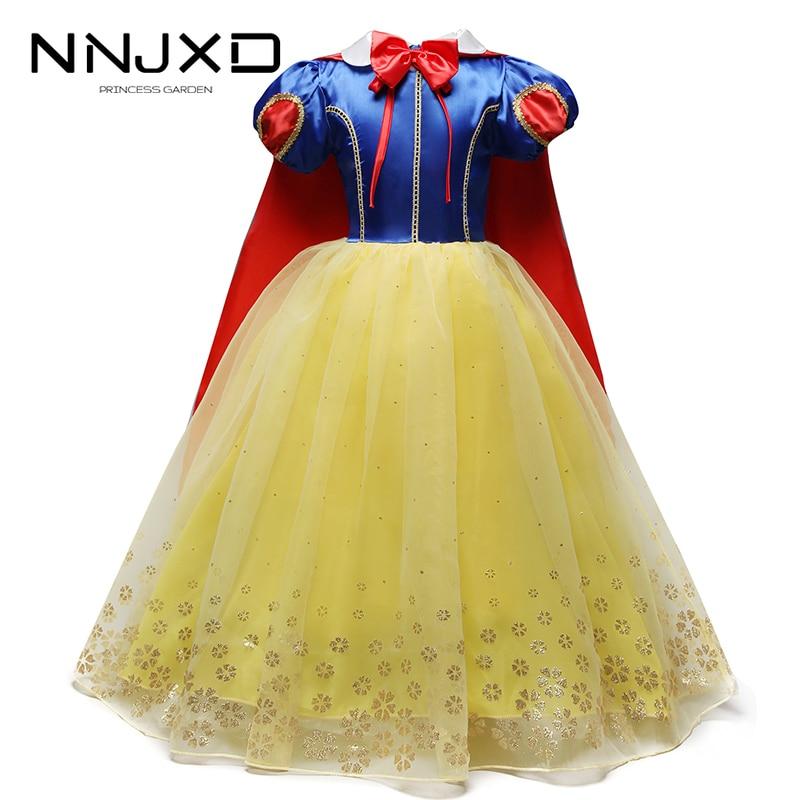 Kid Girls Snow White Petticoat Tutu Dress+Cape Party Fancy Dress Cosplay Costume