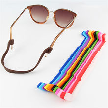 Hot Sale Anti Slip Silicone Ear Hook Solid Color Eyeglasses Strap Cord Sunglasses Sports Band Holder Eyewear Accessories(China)