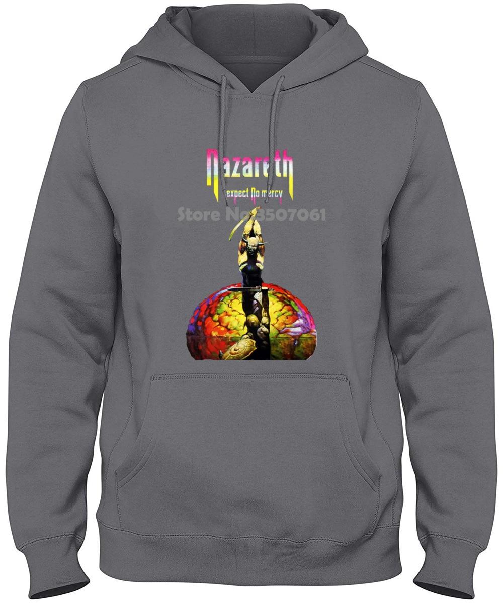 Nazareth Hard Rock Band Mens Casual Back Print Hooded Sweatshirt Black