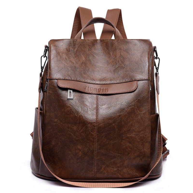 2020 New Women Pu Leather Backpacks School Bag Fo Teenage Girls Female Backpack High Quality Travel Backpack Mochilas