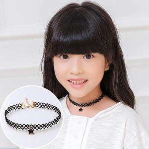 1 шт. модное красивое черное многослойное кружевное ожерелье для девочек детское изысканное готическое эластичное колье модное ювелирное изделие детское ожерелье Колье      АлиЭкспресс