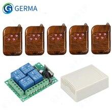 GERMA 433 Mhz Trasmettitore RF Remote Control + telecomando Senza Fili 433 Mhz DC 12V 4 CH Interruttore di Controllo Remoto RF relè Modulo Ricevitore FAI DA TE