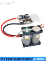 Turmera 4.2V 12V DIY Spot welder Machine for 18650 26650 32700 Battery Soldering 0.15mm and Battery Pack Soldering + Welding Pen|Battery Storage Boxes| |  -