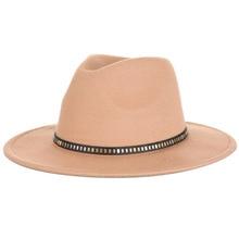2020 Bell-Shaped Safari Outdoor Bucket Women Hat Woolen British Belt Jazz Casual Style Harajuku Women's Cap In Stock