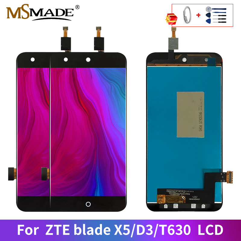 AAA Quality For <font><b>ZTE</b></font> Blade X5 D3 <font><b>T630</b></font> LCD Touch Screen Digitizer Display Replacement Parts For D3 <font><b>T630</b></font> Display 100% Tested image