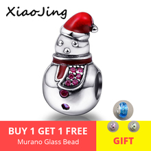 2018 new 925 Sterling Silver Beads snowman Charms with enamel Fit authentic pandora Bracelets For Jewelry making women Gifts 2018 new 925 sterling silver red enamel bikini charms beads fit authentic pandora bracelet charms beads jewelry for women gifts