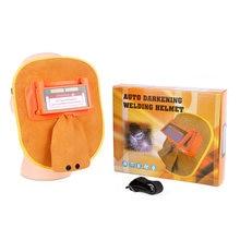 Solar auto darkening electric welding mask helmet welder cap