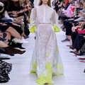 Aeleseen vestido longo branco feminino, de alta qualidade, transparente, manga lanterna, bordado com flores, para primavera 2020