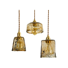Nordic Minimalist Copper Pendant Lights Glass lamp Living Room Lamp Kitchen Lighting Bedroom Bar Dining hanglamp