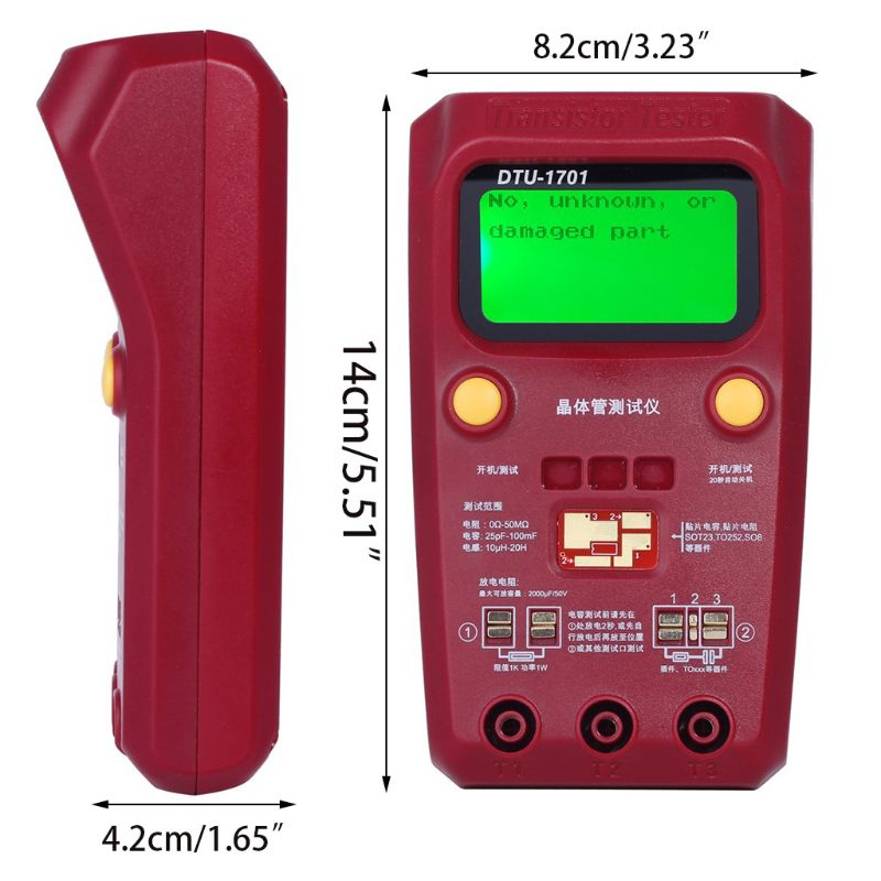 BSIDE ESR02PRO Digital Transistor Tester Capacitance Inductance Resistance LCR Meter Multimeter SMD Components ESR Measurement