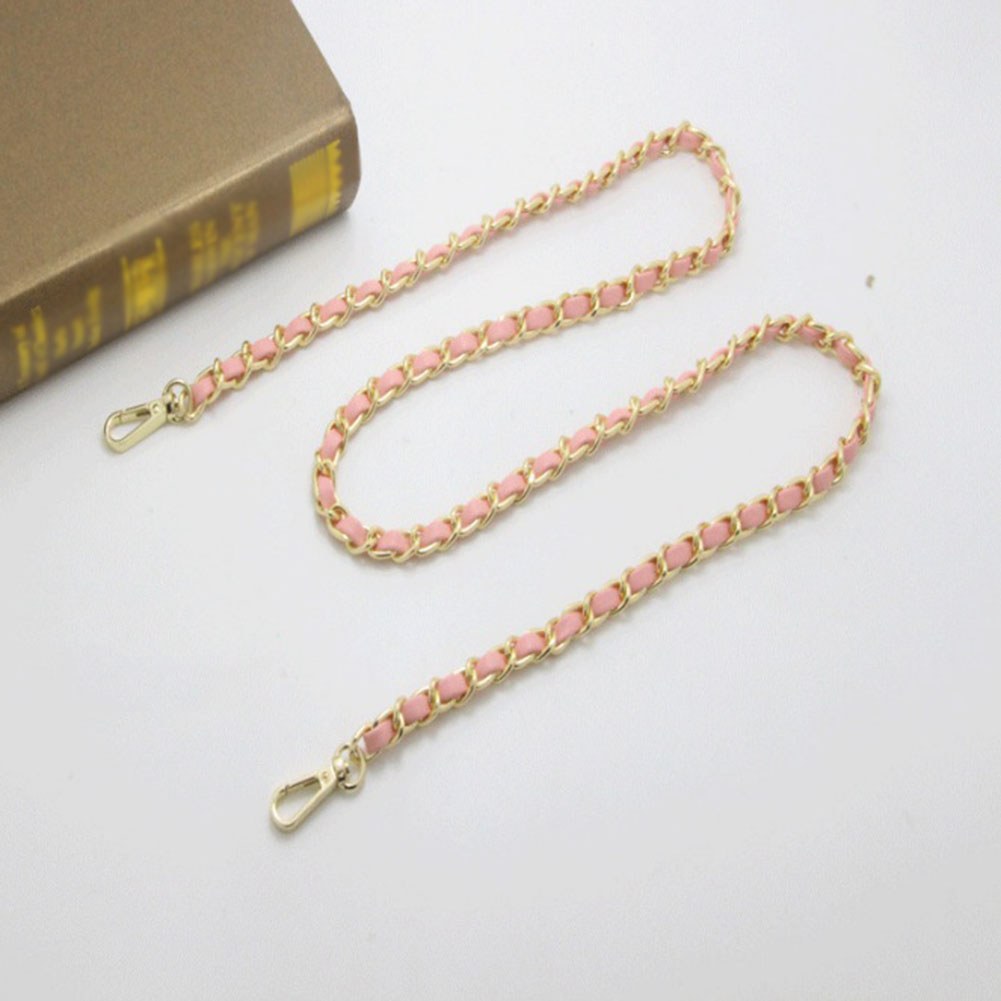 1PC 125cm DIY Fashion Colorful Detachable Alloy Chain Handle Fish Bone Plastic Strap Shoulder Bags Accessories For Women