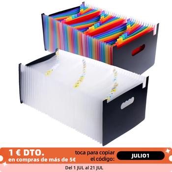 Rozkładana teczka A4 duże plastikowe organizery z możliwością rozbudowy stały Folder akordeonów na dokumenty biznesowe tanie i dobre opinie Bajotien CN (pochodzenie) Powiększenie portfela Z tworzywa sztucznego File folder A4 Accordion folder File folder A4 for documents filing cabinets